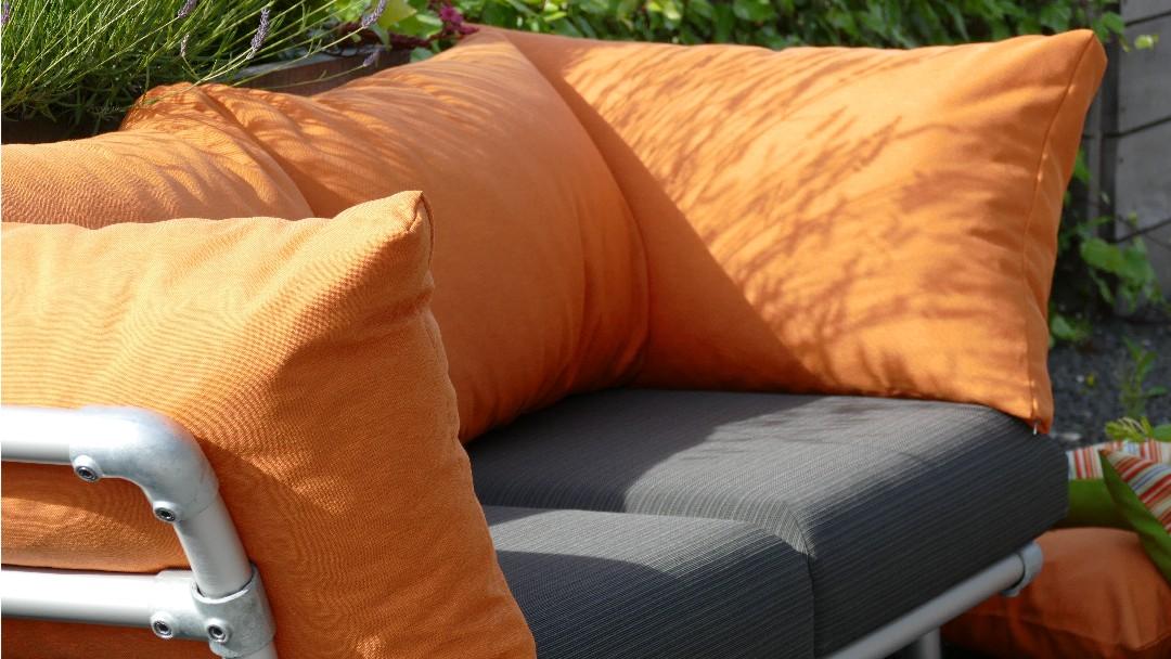 outdoor stof oranje