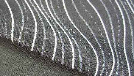 outdoor stof donker grijs streep