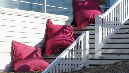 zitzak in outdoor stof roze