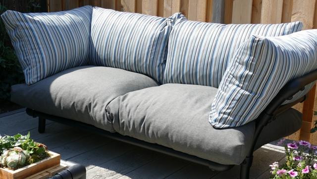 loungebank tuin in outdoor stof blauw