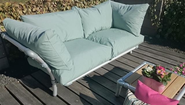 loungebank tuin  in outdoor stof licht groen