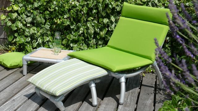 loungestoel tuin in outdoor stof groen