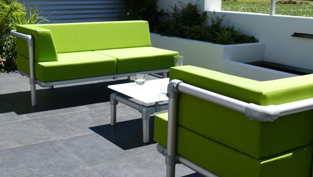 loungebank tuin in outdoor stof groen
