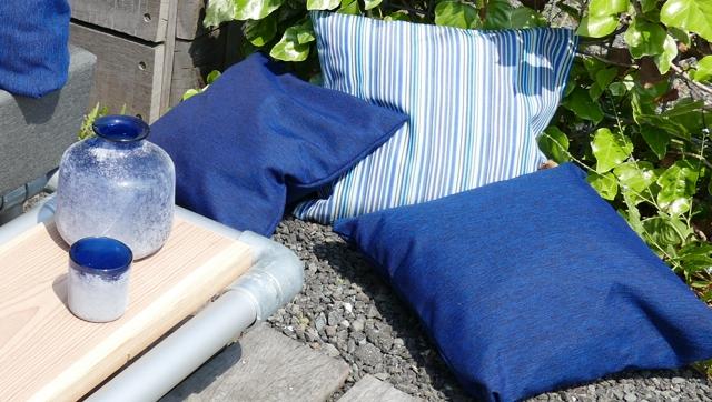 outdoorstof blauw