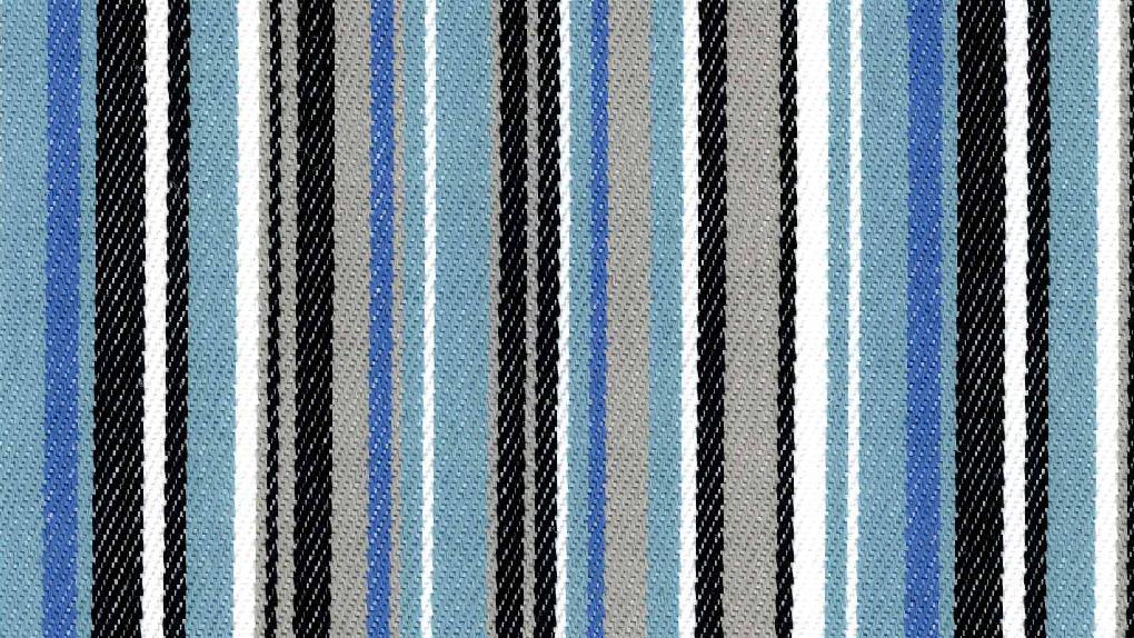 outdoor stof blauw streep